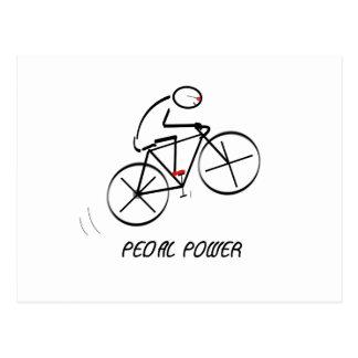 "Spaß-Radfahrer-Entwurf mit ""Pedal-Power"" Text Postkarte"
