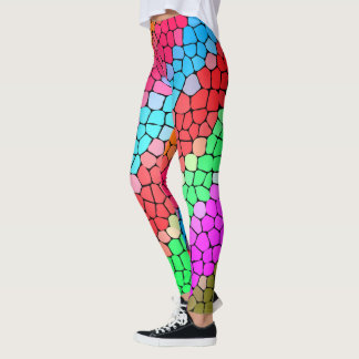 Spaß-Regenbogen-Mosaik-Muster Leggings