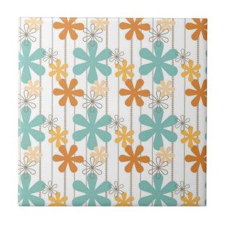 Spaß-Retro Blumenmuster-orange blaue Wand-Blumen Fliese