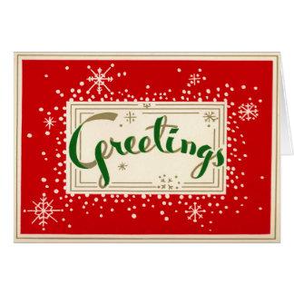 Spaß-Retro Gruß-Weihnachtskarte Grußkarte