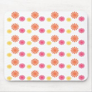 Spaß-rosa orange und gelbe Blume Mousepad