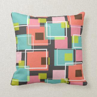 Spaß-rosa Retro Würfel-Muster-Kunst-Kissen-Kissen Kissen