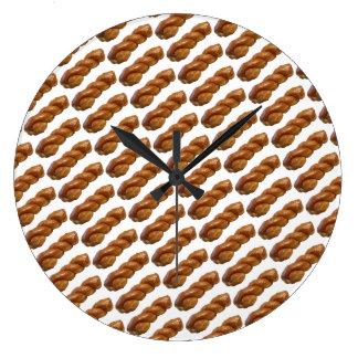 Spaß-rundes Wand-Uhr-glasig-glänzendes Große Wanduhr