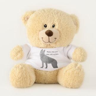 Spaß-Schäferhund Teddybär