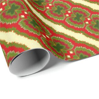 Spaß-schickes Goldrote magentarote grüne Geschenkpapier