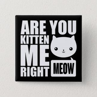 Spaß sind Sie Kätzchen ich rechter Quadratischer Button 5,1 Cm