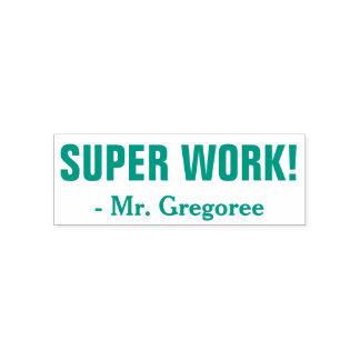 """Spaß """"SUPERarbeit!"""" + Kundenspezifischer Permastempel"""