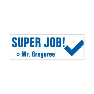 """Spaß """"SUPERjob!"""" Markierungs-Gummi-Briefmarke Permastempel"""