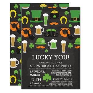 Spaß-Tafel-St Patrick Tagesabendessen-Party 12,7 X 17,8 Cm Einladungskarte