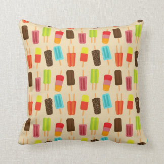 Spaß und bunte Popsicles-Retro Muster Kissen