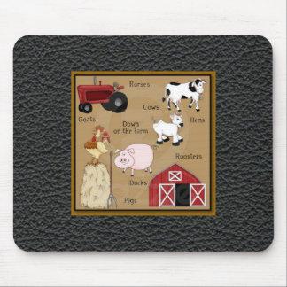 Spaß-Vieh-Leder-Blick-Druck Mousepad