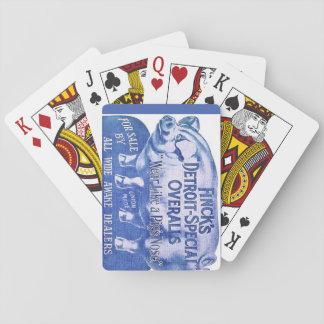 Spaß-Vintage Anzeigen-Schwein-Spielkarten Fincks Spielkarten