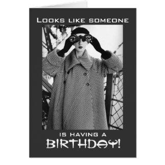 Spaß-Vintage Geburtstags-Karte