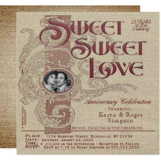 Spaß-Vintage Jahrestags-Party Einladung