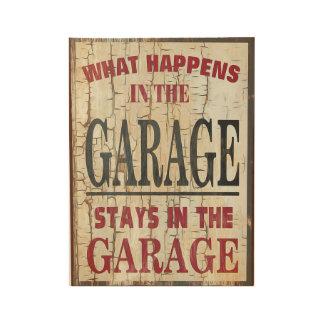 Spaß - welches Happens in der Garage Holzposter