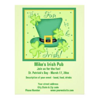 Spaß, zum irische Geschäfts-Werbeaktion-Gewohnheit 21,6 X 27,9 Cm Flyer