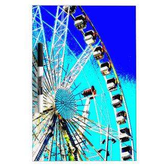Spaßmesse im Amsterdam-Riesenrad und im hohen Turm Trockenlöschtafel