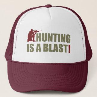 Spaßphrase für alle Jäger: Die Jagd ist eine Truckerkappe