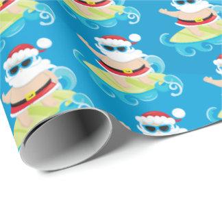 Spaßstrand surfendes geschenkpapier