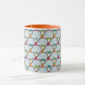 Spaßvögel und Dummkopf-Tassen-Orange Tasse