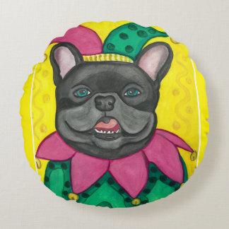 Spaßvogelkissen der französischen Bulldogge Rundes Kissen