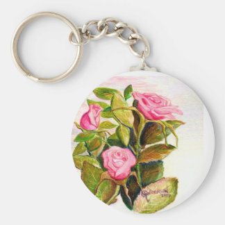 Späte Frühlings-Rosen Keychain Schlüsselanhänger