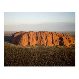 Später Nachmittags-Licht auf Uluru/Ayers Felsen, Postkarte