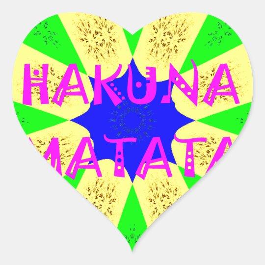 Spätester Hakuna Matata schöner fantastischer Herz-Aufkleber