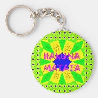 Spätester Hakuna Matata schöner fantastischer Schlüsselanhänger