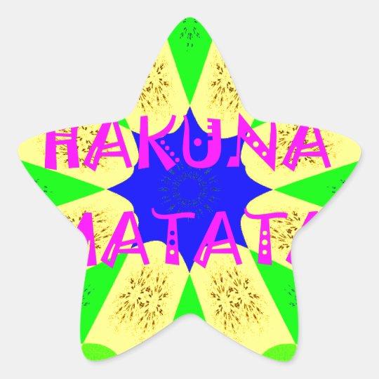 Spätester Hakuna Matata schöner fantastischer Stern-Aufkleber