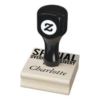 Special-Nachtlieferungs-Namen-Briefmarke Gummistempel