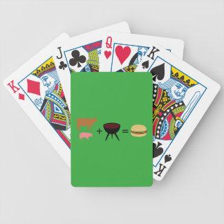 Speck-Burger-Rezept Bicycle Spielkarten
