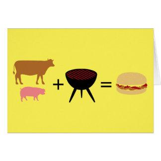 Speck-Burger-Rezept Karte