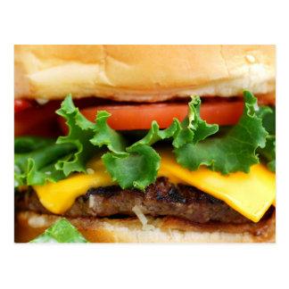 Speck-Cheeseburger Postkarte
