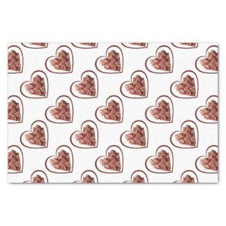 Speck-Herz-Seidenpapier Seidenpapier