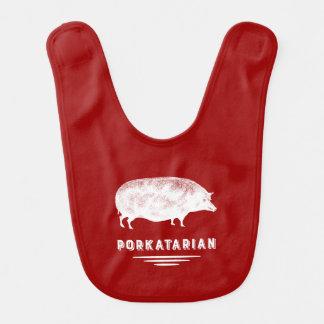 Speck-Liebhaber Porkatarian Vintages Schwein-Rot Lätzchen