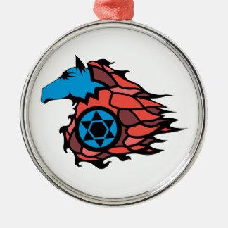 SpeedHorse Rundes Silberfarbenes Ornament