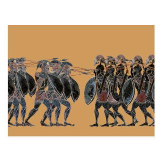 Spektrum - altgriechische HopliteKampflinie Postkarte