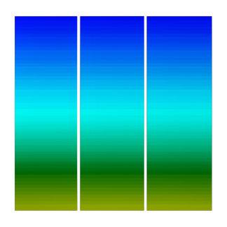 Spektrum der Farben blau, zum von Triptychon