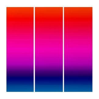 Spektrum von Farben, Rot, lila, blaue Triptychon