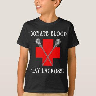 Spenden Sie Blut-Spiellacrosse-T - Shirt