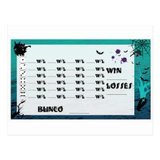 Spezielle Bunco Postkarte lädt ein