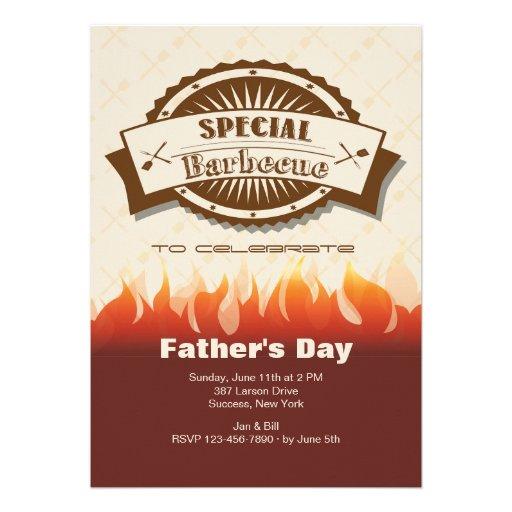 Spezielle der Vatertags-Einladung Grill-