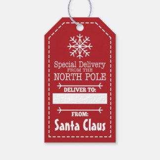 Spezielle Lieferung vom Nordpol und von Geschenkanhänger