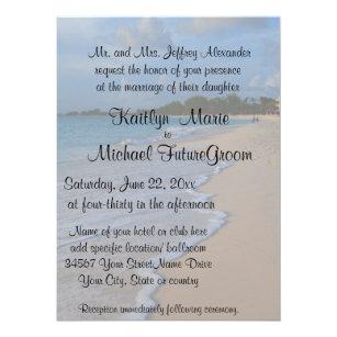 Spezielle Romantische Strand Hochzeit Einladung