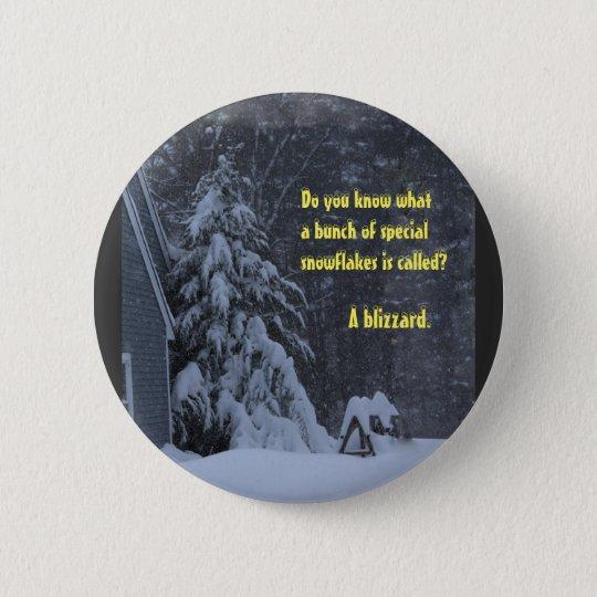 Spezielle Schneeflocken Runder Button 5,7 Cm