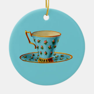 Spezielles Tee-Party Keramik Ornament