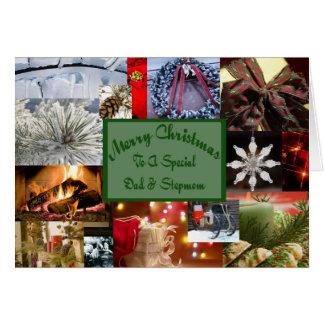 Spezielles Vati und Stiefmutter Weihnachten Karte