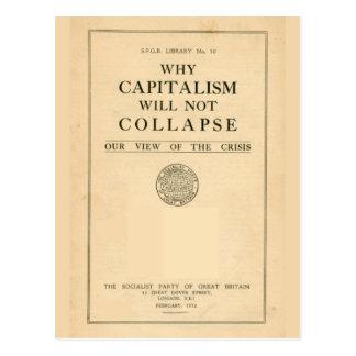 SPGB, warum Kapitalismus nicht 1932 einstürzt Postkarte