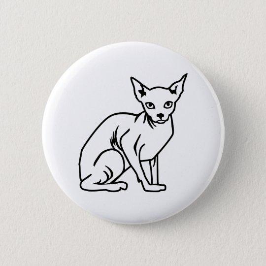 Sphinxkatze Runder Button 5,7 Cm